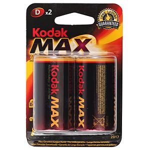 Элемент питания Kodak LR20 2BL, 62059