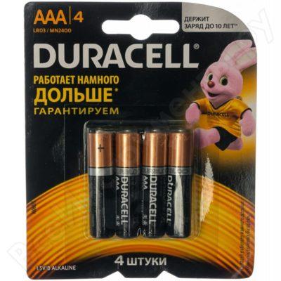 Элемент питания Duracell LR 03 BASIC CN 4BL (шт.), 71142