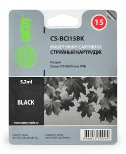 Струйный картридж Cactus CS-BCI15BK