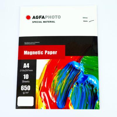 Фотобумага AGFA магнитная, матовая А4, 650 г/м2, 10л. (2.08.21)