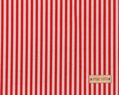 Ткань на клеевой основе «Красные полоски»