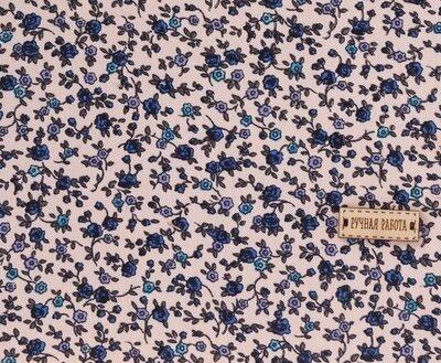 Ткань на клеевой основе «Синие цветочки», 21 х 30 см,3087709