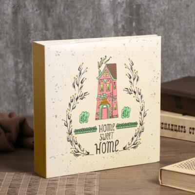 """Фотоальбом на 200 фото 10х15 см """"Нарисованный дом"""" бумажные листы 22,5х22х5 см"""