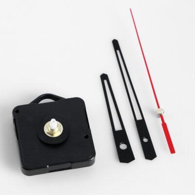 1623224 Набор часовой механизм, дискретный ход, стрелки черные, шток 15 мм